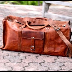 Handbags - Handcrafted Leather Duffelbag